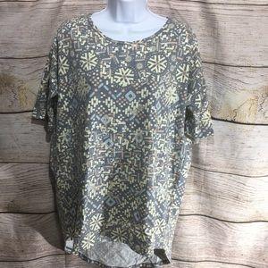 LuLa Roe XS oversized shirt unique pattern